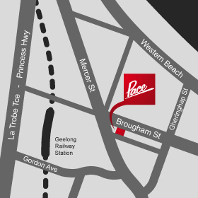 Pace Advertising map